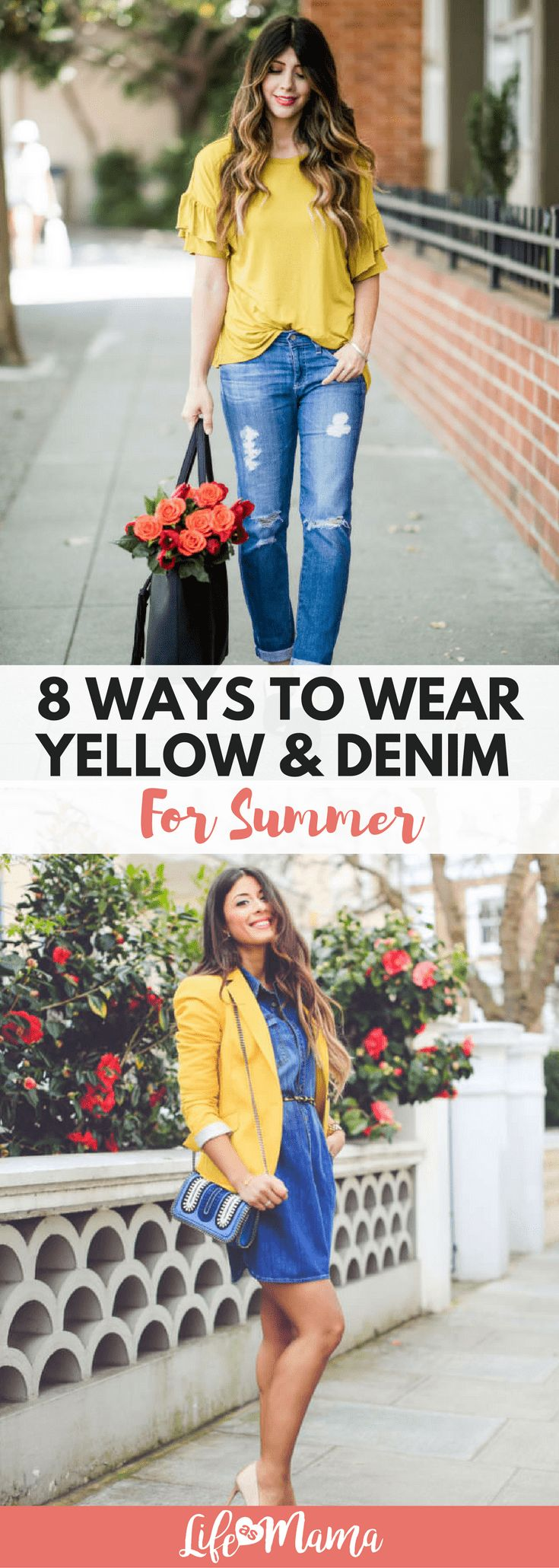 The contrast of vibrant yellow and the durable texture of denim are a killer team. Here are 8 ways to rock this duo in the summer.