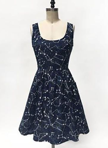 Modcloth 1950s Folter Retrolicious Glow in The Dark Constellation Galaxy Dress | eBay
