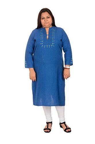 Damyantii Women's Plus Size Blue Khadi Straight Kurta Dam... http://www.amazon.in/dp/B011RCW3UY/ref=cm_sw_r_pi_dp_x_hYCQxb0NEFVVT
