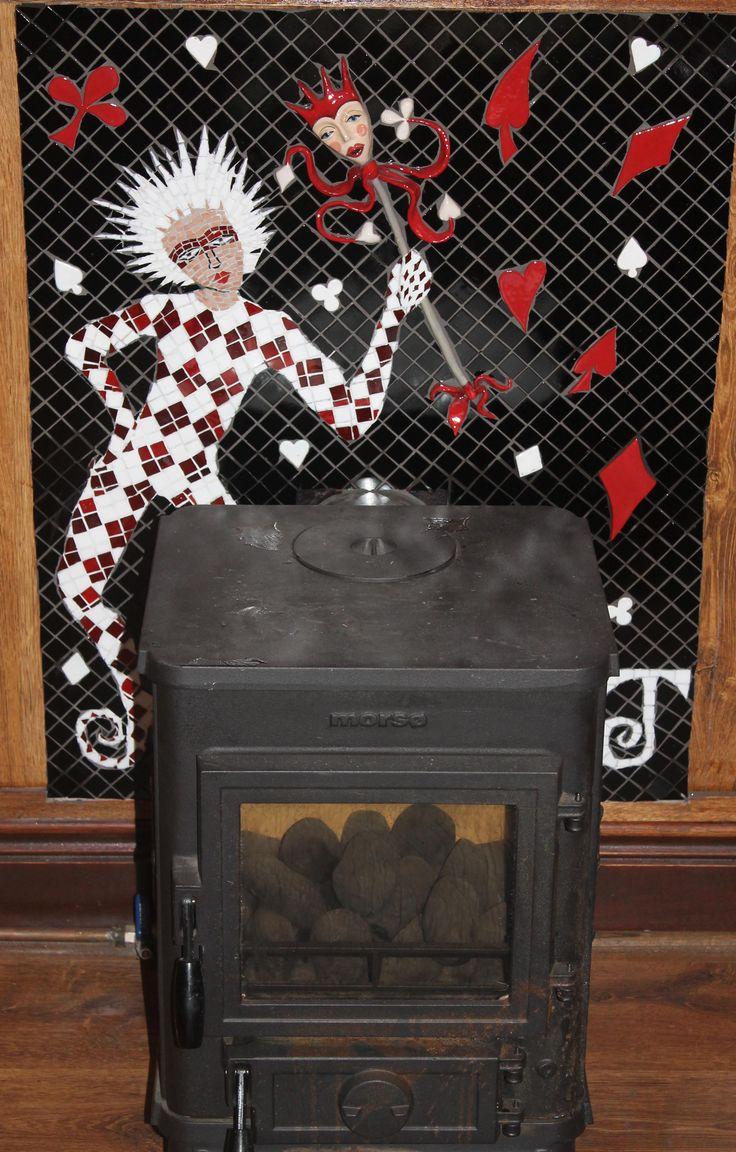 Joker inspired fireplace
