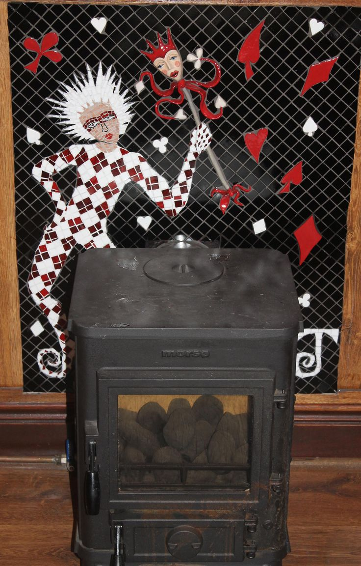 Joker inspired fireplace
