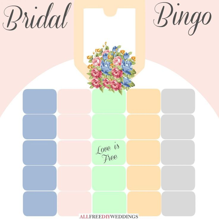 This is the most fun version of bridal bingo I've ever seen! The instructions are way better than regular bingo — I love creative bridal shower games!