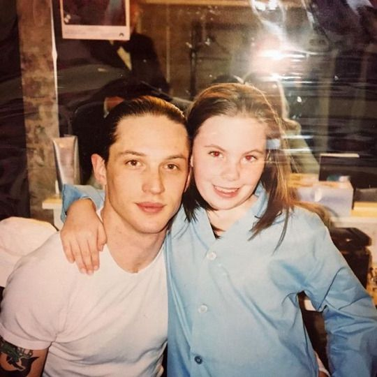 Tom Hardy with Emily Michalakis in 2004