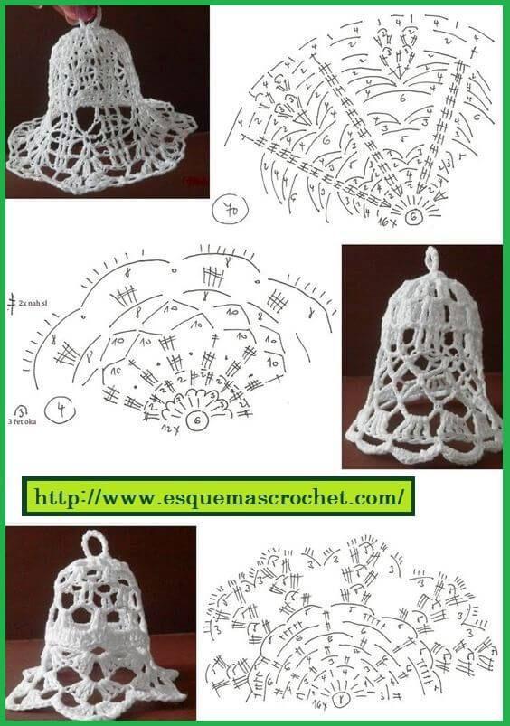 Esquema de crochet para artículos navideños