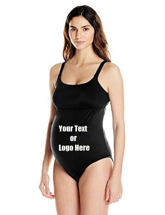 DG Custom Graphics is your premier site for custom designed apparel.    We can design your Women's Maternity One Piece Swimsuit with your custom artwork, text or logo. Forward your artwork with one color. If additional colors are needed we can provide a custom quote.    Forward us the following info.    1.Pick One Color (Choices: Blue, Black, White, Red) Additional colors available upon request and with a surcharge.  2.Upload Artwork to us. Include your invoice #.  3. Specify where you want…
