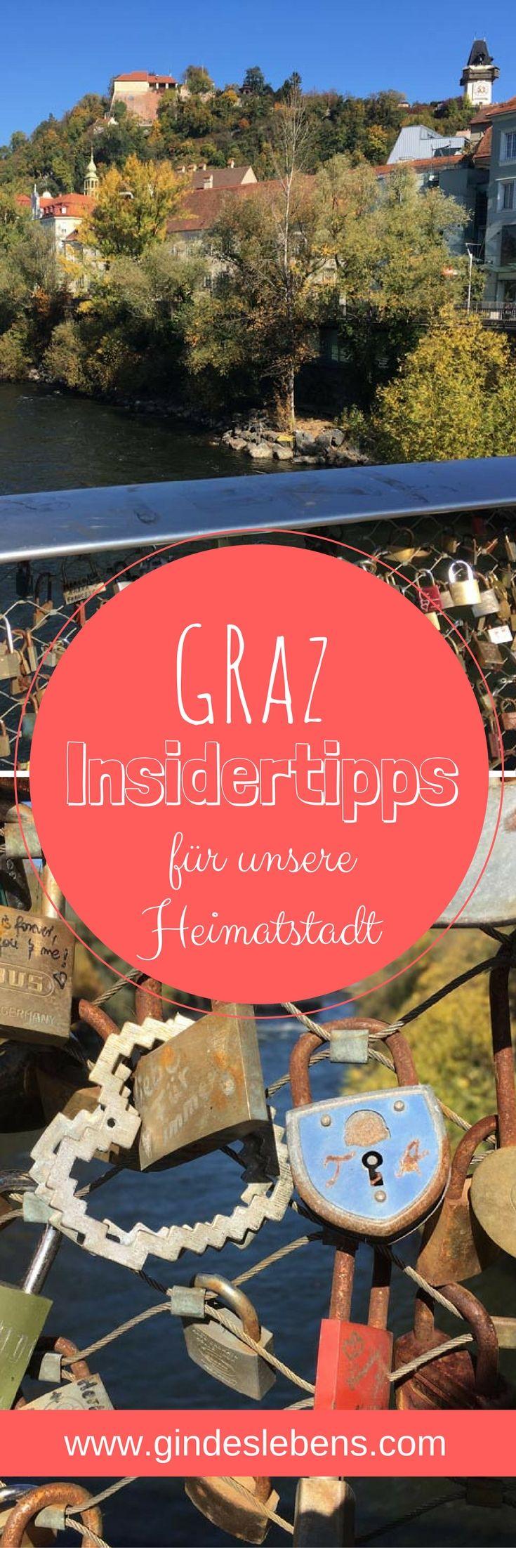 Graz in Österreich - Insidertipps für unsere Heimatstadt in der schönen Steiermark. Kennt ihr Graz in der Steiermark? Graz ist unsere Heimatstadt. Wir stellen euch die Landeshauptstadt vor und verraten auch ein paar Insidertipps! www.gindeslebens.com #Graz #Österreich #Steiermark #Insidertipps
