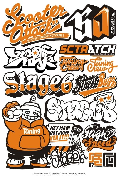 Scooter Attack Logos on the Behance Network