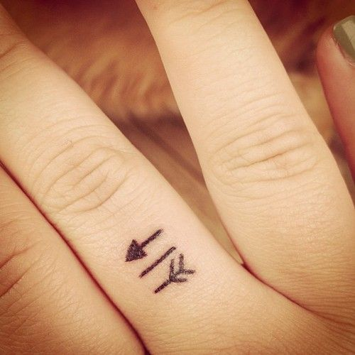 nice Arrow tattoo on finger more image check my website