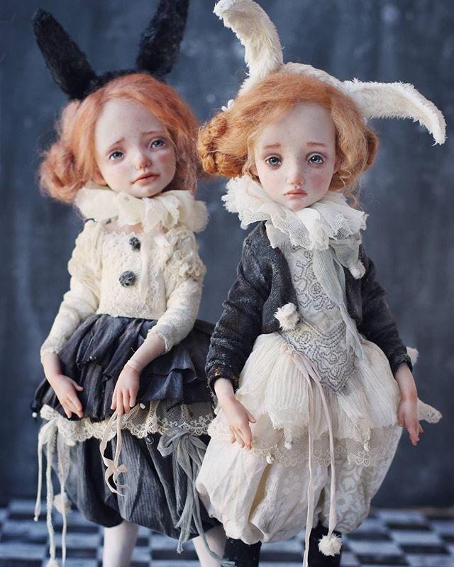 В продолжении темы малышек появились такие вот зайки. Куколки в резерве. Photo by @elinasbears .