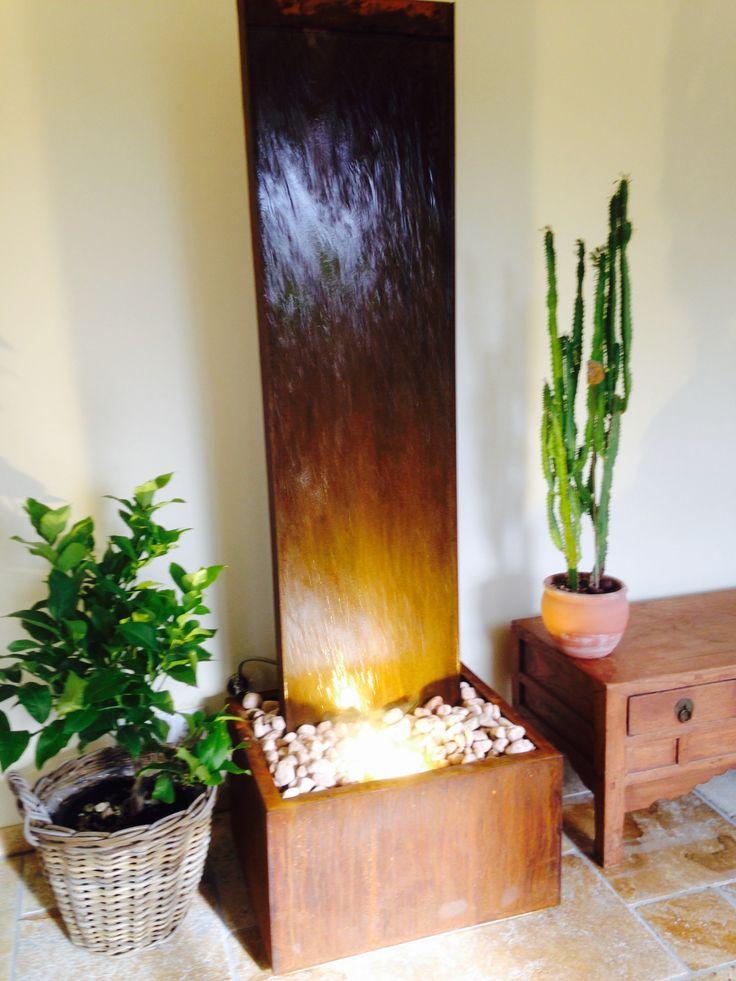 Superb Cortenstahl Wasserwand von Brunnenschmiede cortensteel water fountain by brunnenschmiede