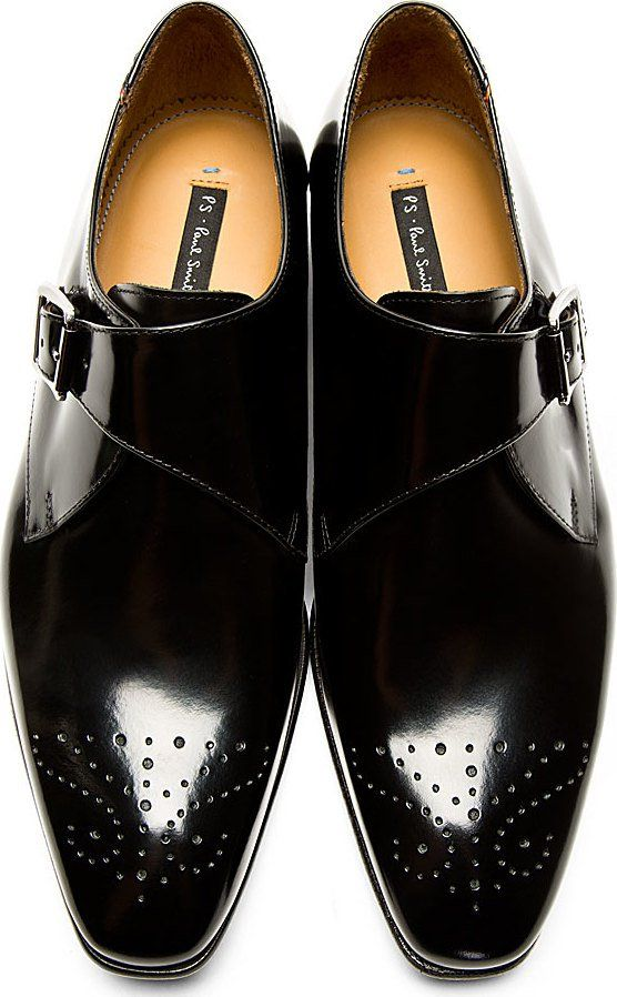 Ps By Paul Smith: Black Wren Monk Strap Shoes.i need new shoes!