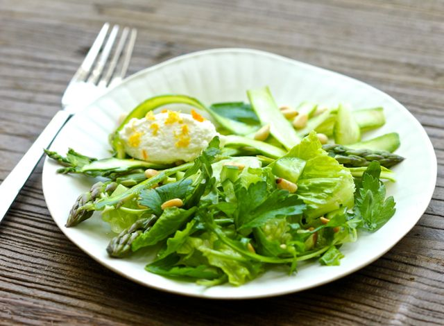 fresh, seasonal salad of greens, asparagus, citrus vinaigrette, and ...