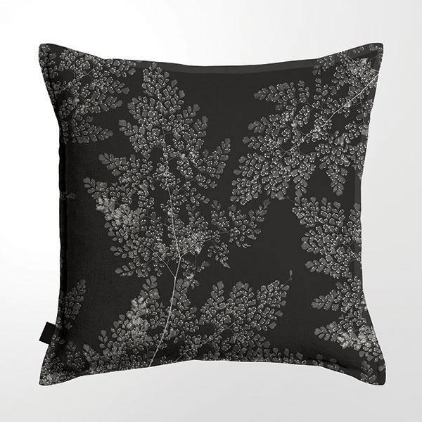 Scatter Cushion (DBL sided print ) - Silver Fern Black