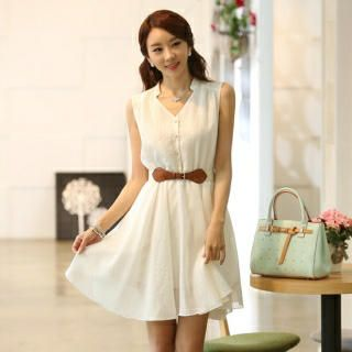 Buy 'Styleonme – Half-Placket A-Line Dress' with Free International Shipping at YesStyle.com. Browse and shop for thousands of Asian fashion items from South Korea and more!