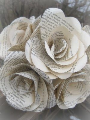 Book page roses. Absolutely love these