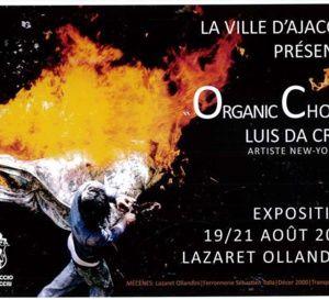 « Organic Choc » une exposition de l'artiste nex-yorkais  Luis Da Cruz au Lazaret-Ollandini