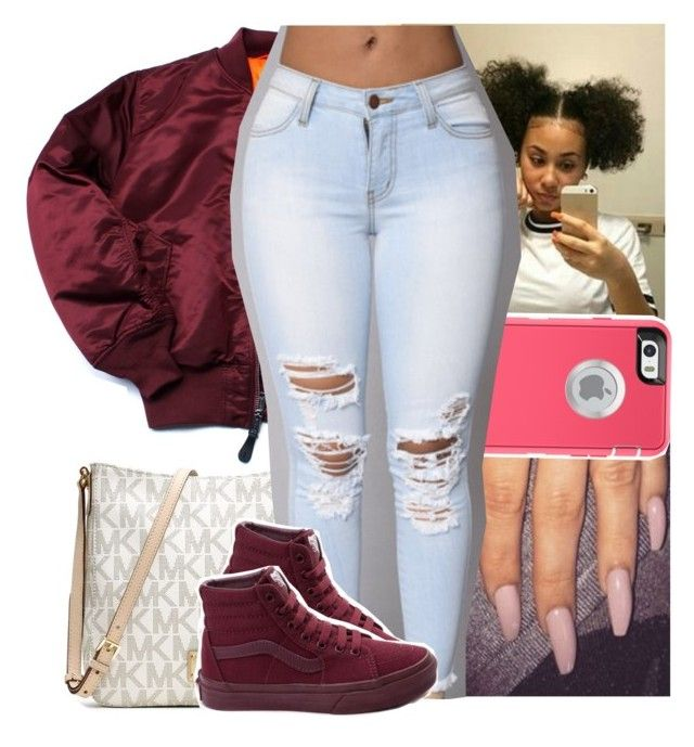 """Me n you girl that's amazing🔐"" by theyknowtyy ❤ liked on Polyvore featuring MICHAEL Michael Kors and Vans"