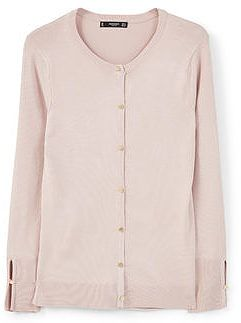 Womens blush buttoned cardigan from Mango - £25.99 at ClothingByColour.com