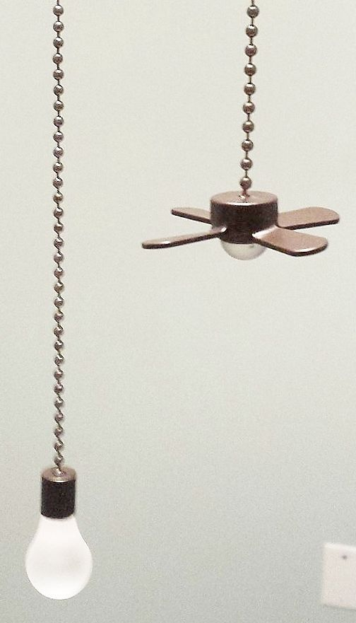 CEILING FAN AND LIGHT BULB CEILING FAN PULLS BRONZE CHAIN PULLS LIGHT PULLS  #Unbranded
