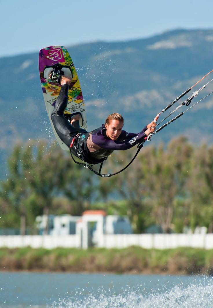 Angela Peral with a raily  kitesurfing kiteboarding North kites wallpaper