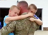 Soldier Surprises Sons in a Way They Didn't See Coming - AWW!
