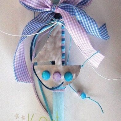 Easter candle for boys with luxury hard by LaPetiteMelina on Etsy