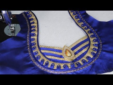 daa183f55a easy blouse back neck designs cutting and stitching at home by sri tv -  YouTube
