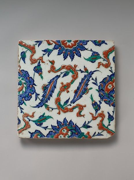 Tile with Floral and Cloud-band Design, ca. 1578. Turkey. The Metropolitan…