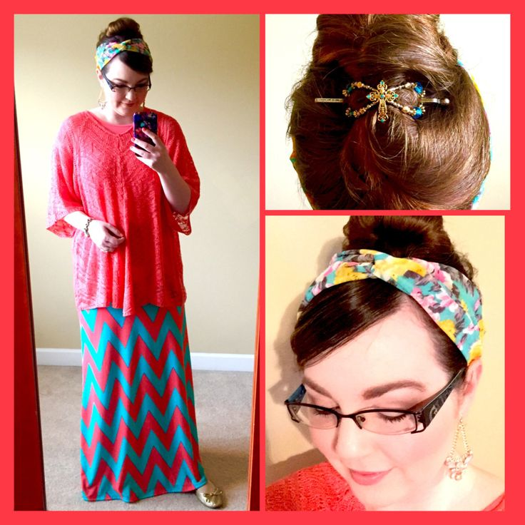 Maxi Skirt Outfit, Headcovering, and Flexi Clip
