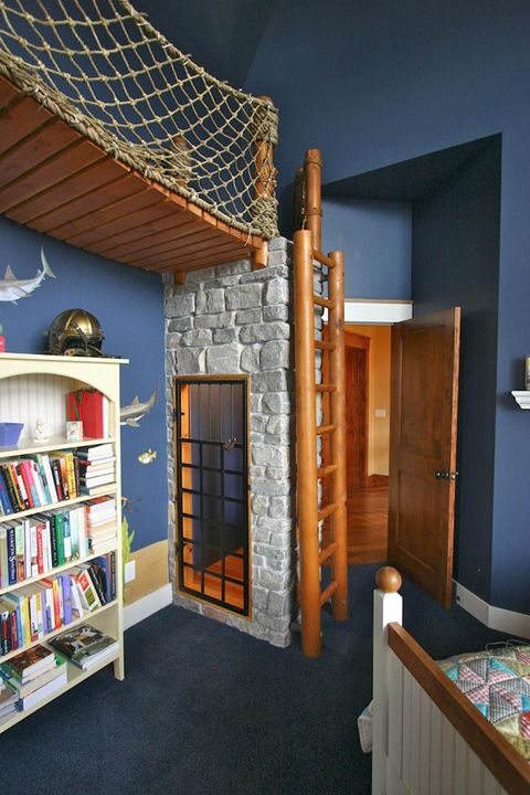 What a great fun space for a boys room.
