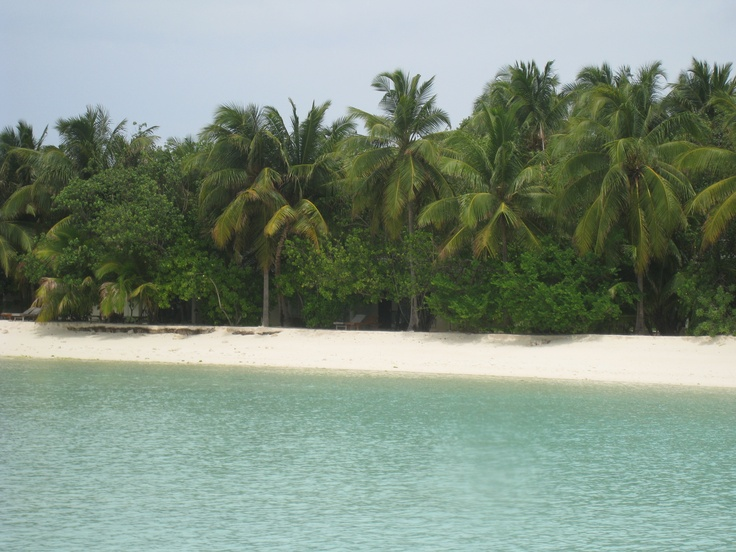 Warm sea breeze, soft sand, infinite, soothing thoughts.  Paradise island, Maldives