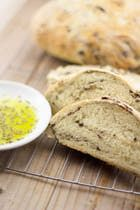 Greek Olive Bread | Eliopsomo http://greekfood.about.com/od/Greek-Bread-Recipes/r/Greek-Olive-Bread-Eliopsomo.htm