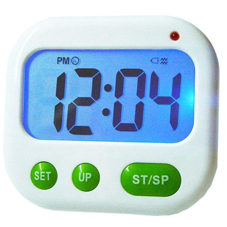 Alarm Clock Timer CountDown Digital LCD 24 hours Kitchen Sport ( Music / Vibration)