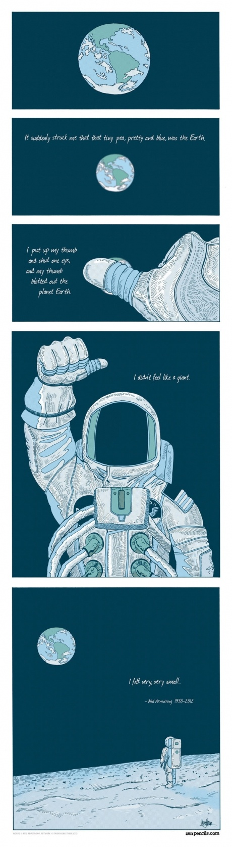 """I felt very, very small."" RIP Neil Armstrong."