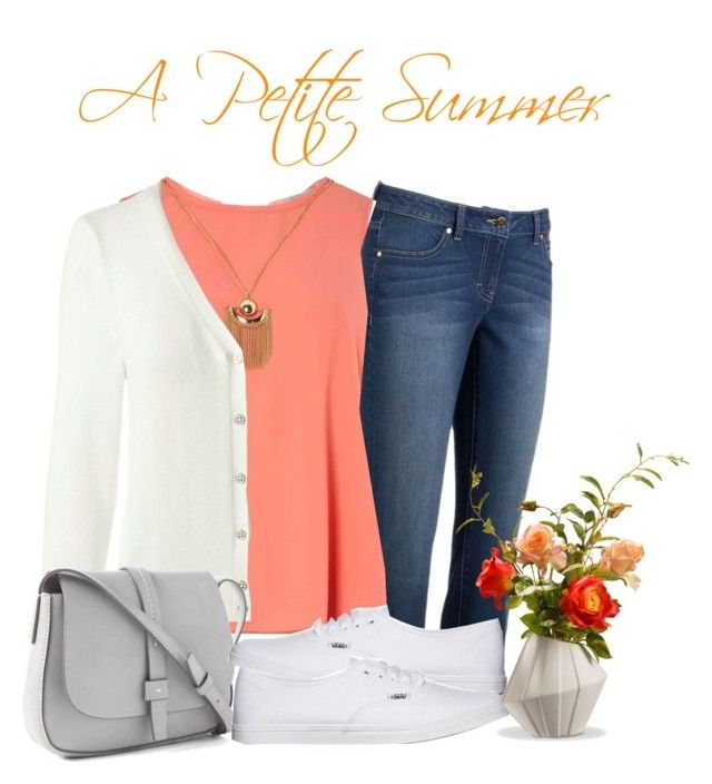 """""""Petite Style Set #2"""" by beautifulbureau on Polyvore featuring Jennifer Lopez, Dorothy Perkins, Lands' End, Gap, Vans, National Tree Company and Petite"""