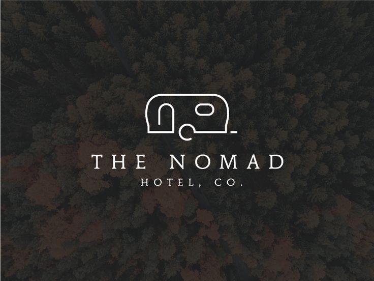 Approved logo for The Nomad Hotel. They rent out beautifully refurbished Airstream trailers for those who want a unique vacation experience. Cool stuff.