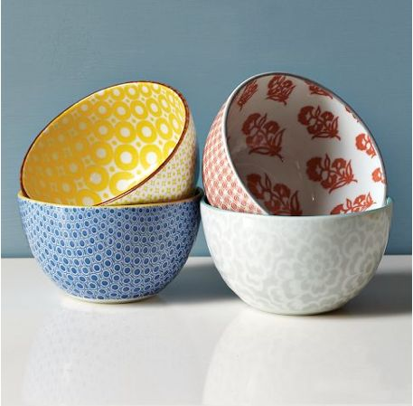 Ceramic Jap print bowls