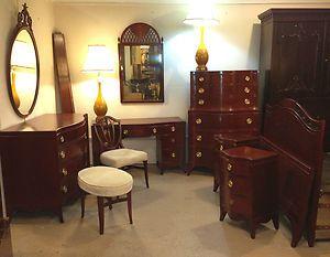 sheraton style mahogany bedroom set hathaway furniture co