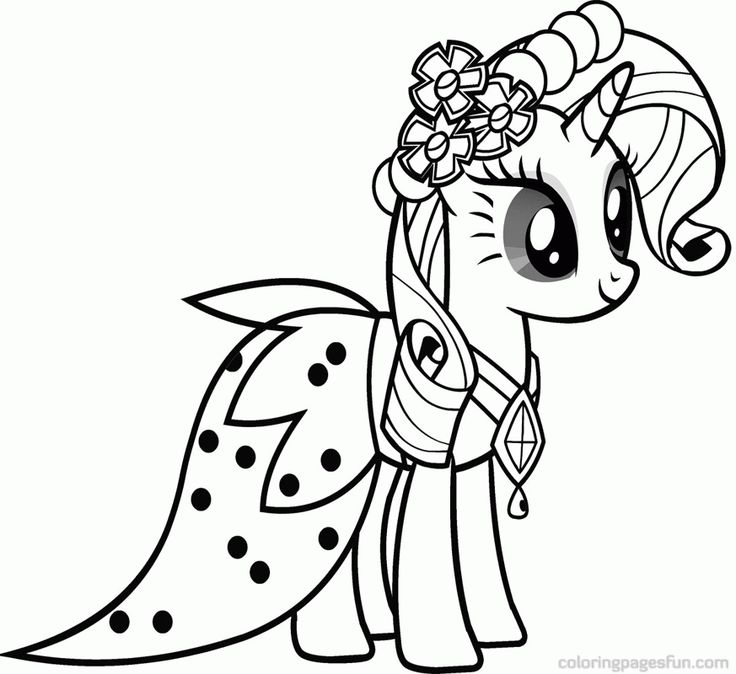 rarity friendship is magic coloring pages