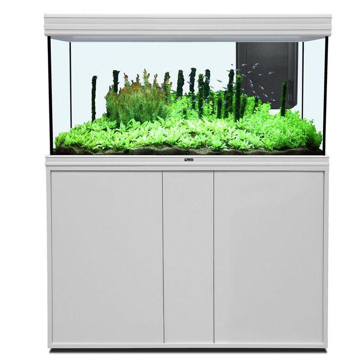 Animalerie  Ensemble aquarium/sous-meuble Aquatlantis Fusion 12050 LED  blanc