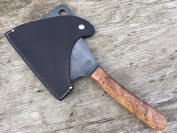 Seriously Huge Meat Cleaver with W2 High Carbon Steel Blade