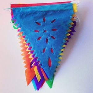 Image of Mini Triangle Papel Picado Bunting