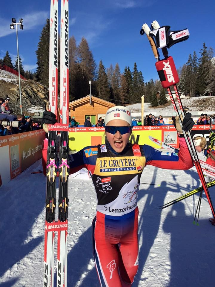 Wow! Oestberg throws down huge effort and takes Tour lead from Johaug. Weng stays in 3rd.