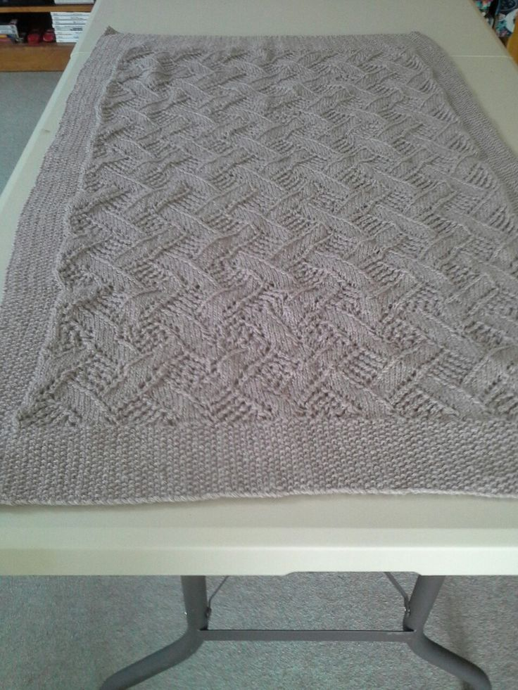A pram blanket I created for a gift for one of my nieces 1st child. Used Bendigo yarns