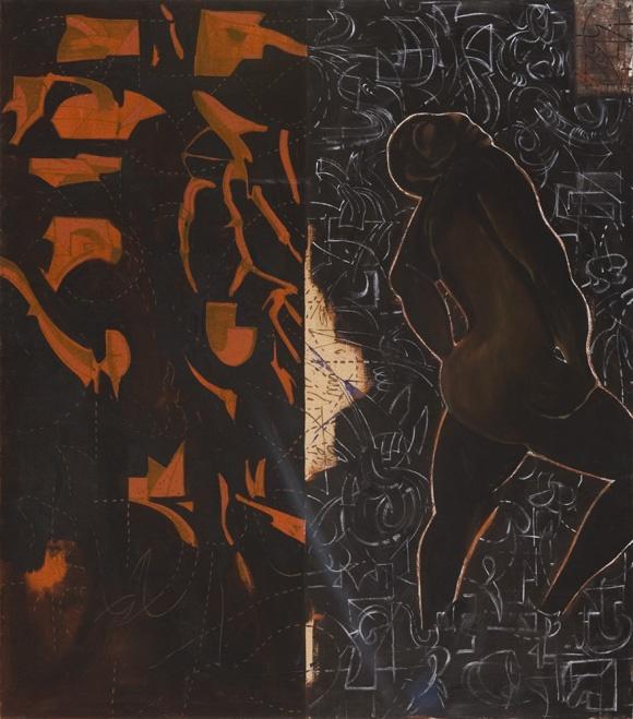 Musée Berardo, Lisbonne    Jorge Tacla ( 1958 - )  Mexico    Monotone Function, 1993    Oil on jute; 203 x 178 cm  Latin American art