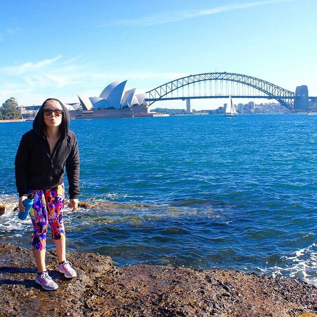 Oh #Sydney...how we love you! Beautiful day today! Vic was totally rocking her @activecreatures pants too...snazzy pants make everything better!
