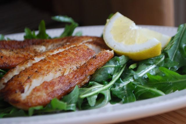 Crispy Pan-Fried Tilapia with Lemony Baby Arugula Salad - Always Order Dessert