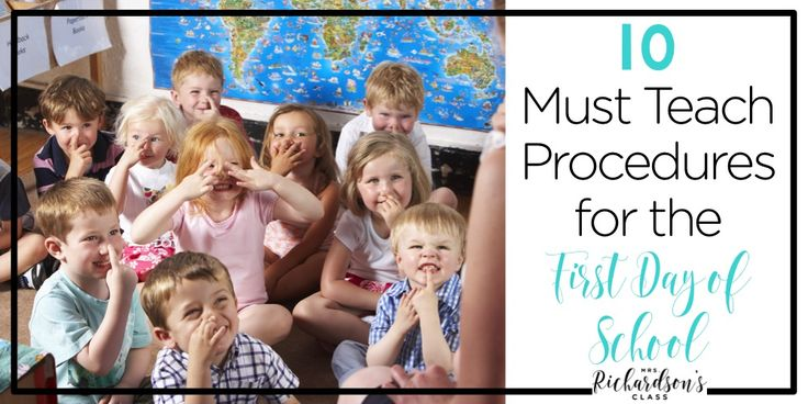 The first day of school is jam packed with things to teach. Here are 10 must teaching procedures for first day of school.