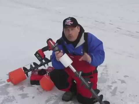 The K-Drill Cordless Drill Electric Ice Auger System - YouTube
