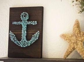Anker Fadenbild – maritime Deko für Zuhause selber machen